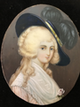 Stunning Antique Portrait Miniature Painting 19th century of Georgian lady fine detail